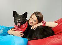 Make-up: Magdalena Kossakowska, Modele: Anna Ciesielska & Atos (do adopcji - Fundacja AMI), Fot.: Piotr Pazdyka