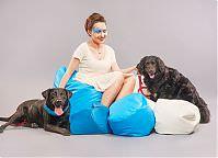 Make-up: Justyna Lasota, Modele: Martyna Pietrzyk, Kłaczek (adoptowany) & Zefir (do adopcji - Fundacja Bezdomniaki), Fot. Piotr Pazdyka