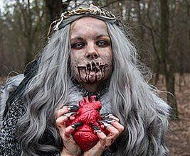 Szkoła Wizażu i Charakteryzacji SWiCh na Run Or Death. Krwawe Walentynki II. 16 lutego 2019 r. Fot. Anita Kot