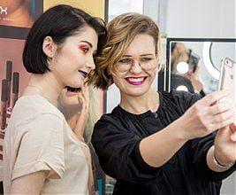 Warsztaty zMagdaleną Graff zNYX Proffesional Makeup wSzkole Wizażu iCharakteryzacji SWiCh. 30 marca 2019 r.