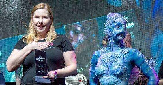 Wykładowca Szkoły Wizażu i Charakteryzacji SWiCh wygrał pierwsze otwarte mistrzostwa charakteryzacji FX Master Battle. 9 marca 2019 r.